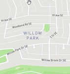 Willow Park Se Calgary Map